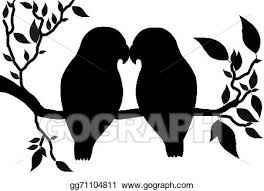 lovebird clipart silhouette. Wonderful Lovebird Drawing  Illustration Silhouette Of Love Birds Couple Perched On A Tree  Branch Clipart Gg71104811 In Lovebird Silhouette A
