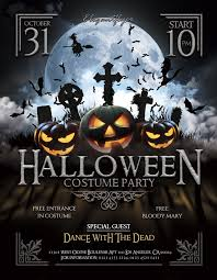 Halloween Dance Flyer Templates Halloween Party Flyer Psd Template