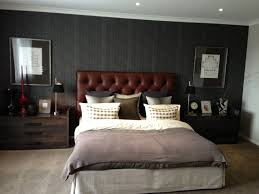 Masculine bedroom with black ceiling, navy bedspread and built-in wood  headboard - LUX Design | LUX Bedrooms | Pinterest | Wood headboard,  Bedspread and ...