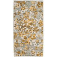 safavieh evoke gray gold 2 ft x 4 ft area rug