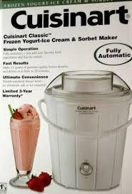 cuisinart clic frozen yogurt ice