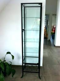 glass curio cabinet display case medium size of shelves with doors ikea detolf s