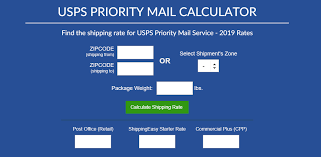 Usps Shipping Chart By Weight Usps Priority Mail Calculator 2019 Shippingeasy