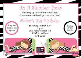Printable Slumber Party Invitations Party Invitation