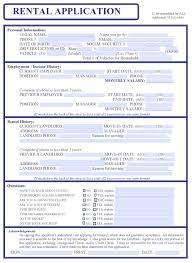 Renters Application Template Free Rental Application Template Picture Gallery For Website With