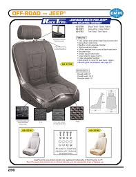 empi racetrim low back wide with headrest seat covers black fabric front