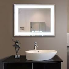 Lighted Bathroom Mirror Cabinet 36 X 28 In Horizontal Led Lighted Bathroom Mirror Touch Button
