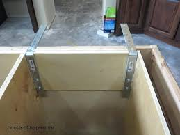 granite overhang island support also found this kitchen countertop requirements