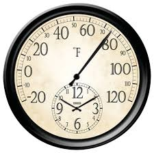 springfield 14 decorative thermometer with clock