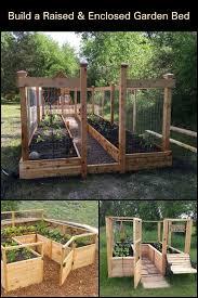 diy raised and enclosed garden bed