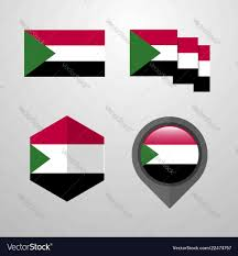 Sudan Design Sudan Flag Design Set