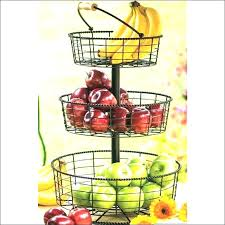 2 tiered fruit stand tiered fruit basket stand for kitchen counter storage full size of 2 tier metal 3 with banana hook home decorators free