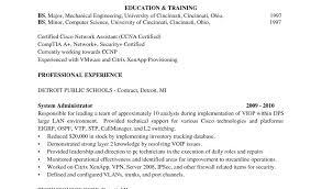 Sample Resume For Linux System Administrator Fresher System