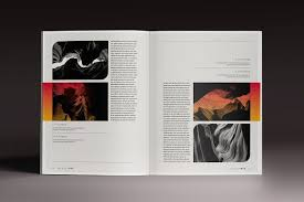 Indesign Magazine Templates Gradient Magazine Indesign Template Magazines Indesign