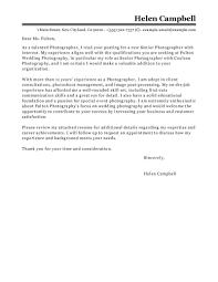 Photographer Cover Letter Leading Professional Senior Photographer Cover Letter Examples 1