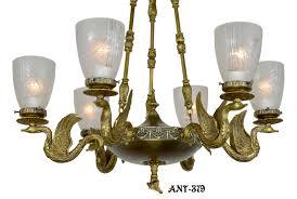 ant 379 antique victorian swan motif brass chandelier 2 jpg