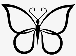 Butterfly Shape Outline Top View Comments Butterfly