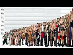 Wwe Wrestlers Height Comparison Chart Shortest Vs Tallest