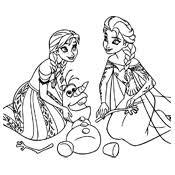 Kleurplaten Frozen Olaf Disney