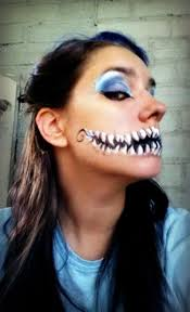 cheshire cat face makeup inspiration on face