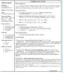 It Resume Doc Free One Page Resume Format Doc Resume Doc For Fresher Delectable Resume Doc
