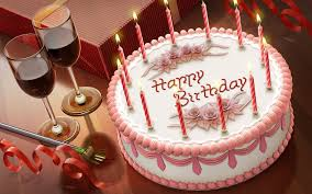 Happy Birthday Champagne And Cake Brithday Cake