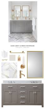 Copy Cat Chic Room Redo | Sleek Gray and Brass Bathroom - copycatchic