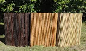 Colour Bamboo Privacy Fence