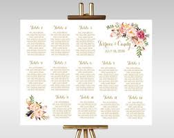 Etsy Wedding Seating Chart Wedding Seating Chart Template Wedding Seating Chart Etsy