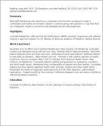 Resume For Pediatrician Pediatrician Resume Template Best Design Tips