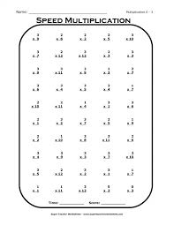 Multiplication X Worksheets Times Tables Multiplying By Free Grade ...