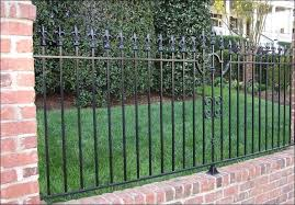 wrought iron fence brick. Minimalist Wrought Iron Fence That Combine With Fascinating Brick Walls Can Make The Home Exterior Concepts Look More Wonderful 893