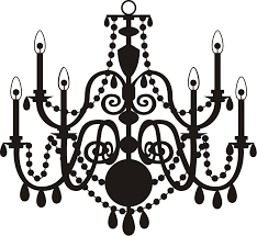 chandelier silhouette pink
