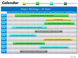 Gantt Chart Year Planner 10 Year Planning Gantt Chart Powerpoint Slides Gantt Ppt