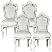 Wohndesign Barock Stühle Weiß Bilderrahmen Freischwinger