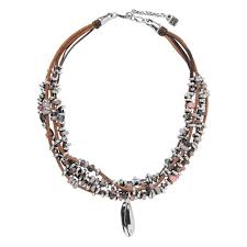 unode50 dreamer brown leather beaded necklace necklaces pendants from joshua james uk