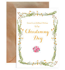 Congratulations On Your Christening Day Greeting Card Mode Prints