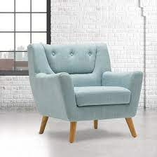 stanwell sofa chair in duck egg blue