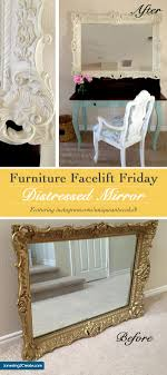 distressed mirrored furniture. Furniture Facelift Friday: Distressed Mirror - Jonesing2Create Mirrored
