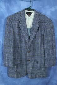 Vintage Tommy Hilfiger Blazer Sport Coat Light Blue Tweed Shoulder Pads Business Retro Made In Usa