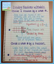 dividing fractions anchor chart game freebie and math journal