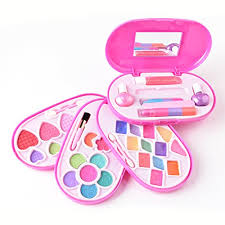makeup kits for little girls. makeup kit for little girls washable, kid safe, 4 make-up palettes in kits d
