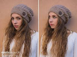 Crochet Hat Patterns Free Delectable Rustic Slouch Hat Crochet Pattern Little Monkeys Crochet