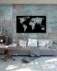 word map metal wall art
