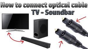 Hindi || How to connect Your Soundbar or music system With an Optical Cable  - YouTube