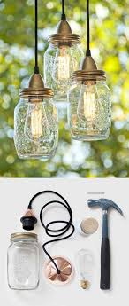 lighting diy. create a light fixture out of jars 21 pottery barn inspired diys would love lighting diy