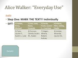 "perspectives on heritage fiction ""everyday use"" by alice  alice walker everyday use"