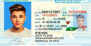 Templates Template Tennessee License Ps… In Driving Drivers Tennessee 2019 Psd tn