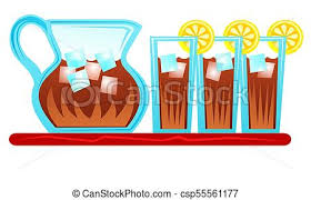 iced tea pitcher clipart. Delighful Clipart Pitcher Of Iced Tea And Glasses With Slices Lemon Summer Refreshment Intended Iced Tea Clipart