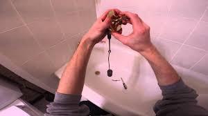 how to adjust a trip lever bathtub drain
